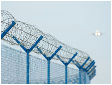 Use of perimeter fencing together with movement detectors can provide proactive warnings to security staff